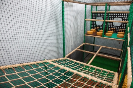 indoor area cargo net