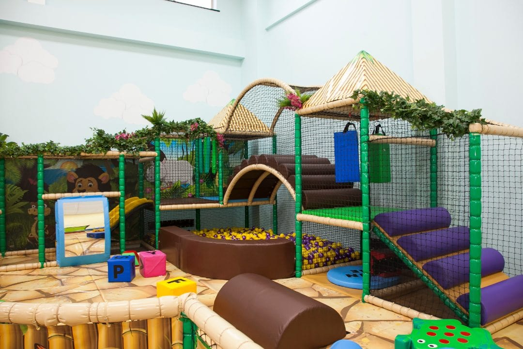 close up picture of roar and explore toddler and baby area